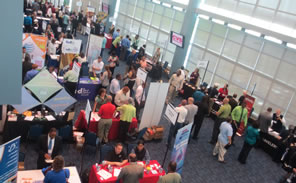 Attendees at the 2013 Career Fair